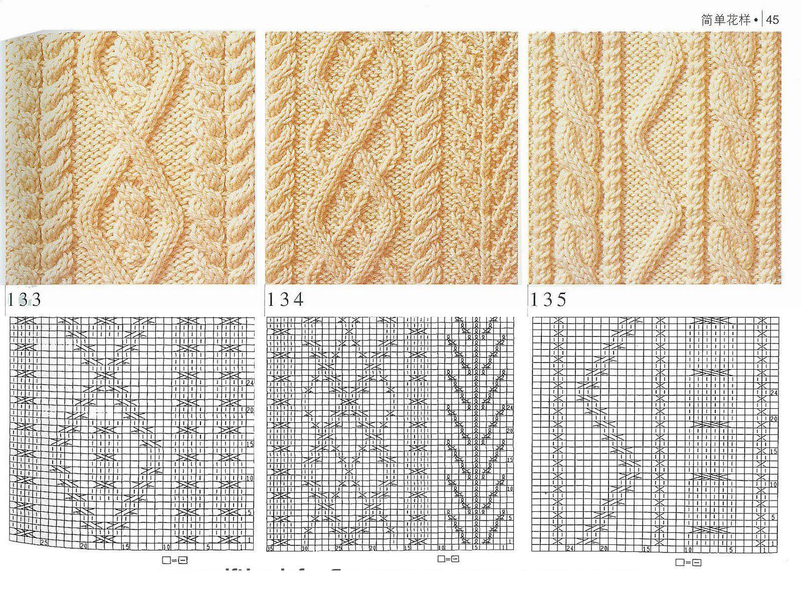 Номера узоров в вязание