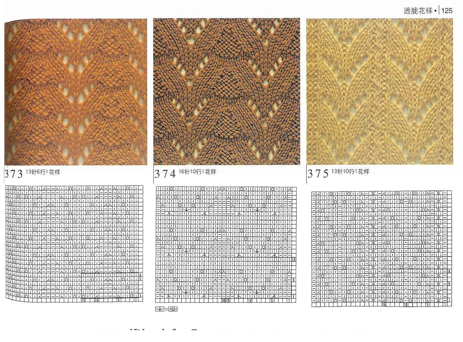 Узоры для вязания спицами » Более 750 схем с описанием 72